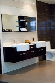 Bathroom vanities are focal point of any bathroom - add a touch of class with an imported vanity from Éco Dépôt