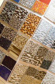 Glass mosail tiles - solid as glass yet flexible as a tile